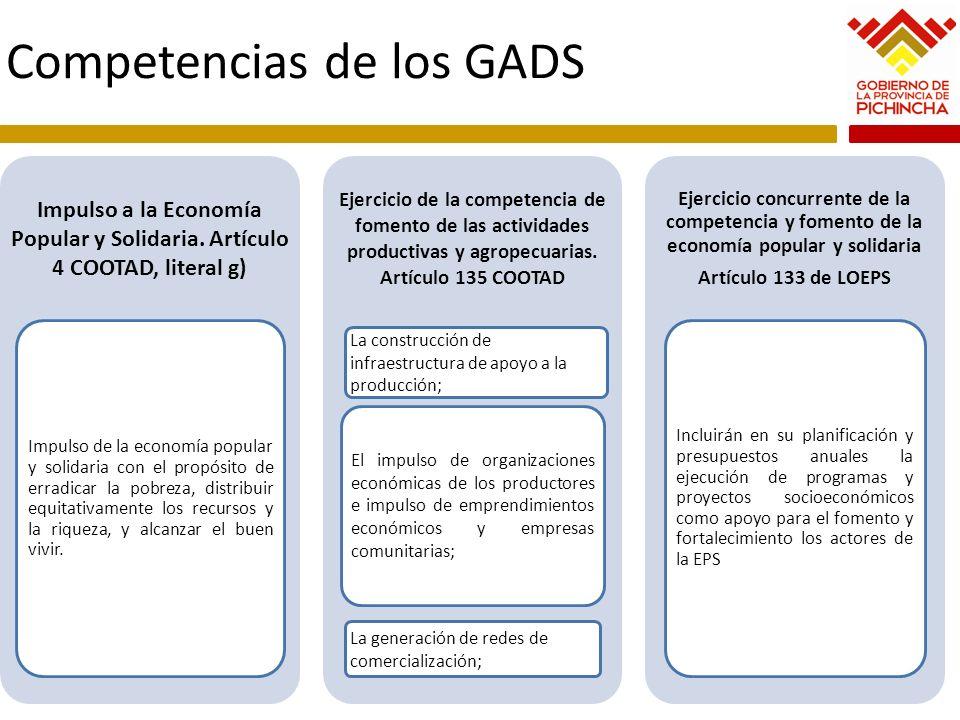 Competencias de los GADS