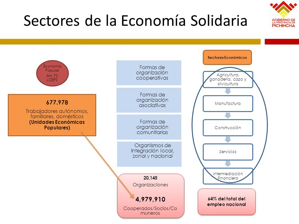 Sectores de la Economía Solidaria