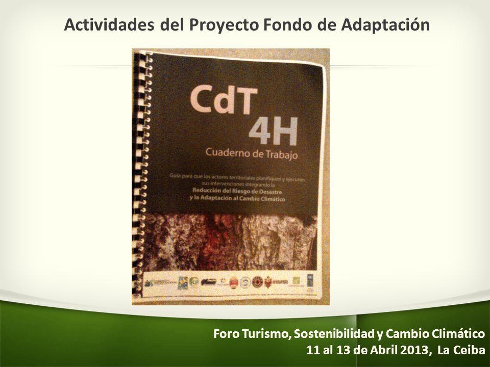 Actividades del Proyecto Fondo de Adaptación