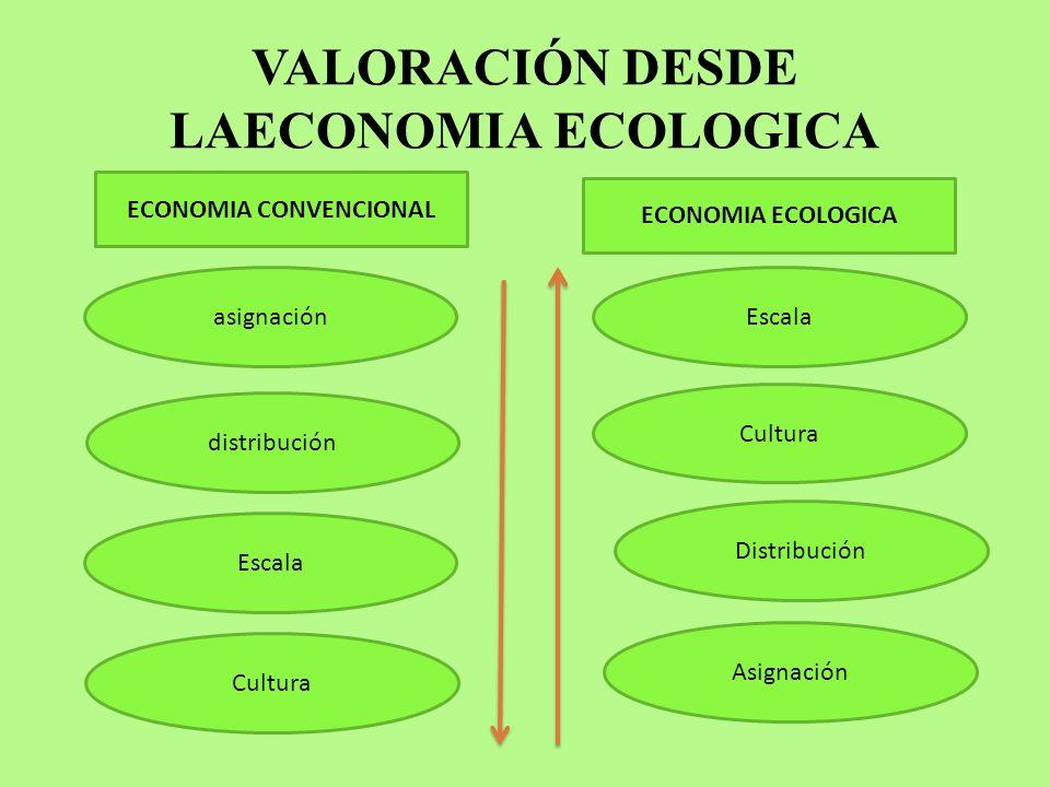 VALORACIÓN DESDE LAECONOMIA ECOLOGICA