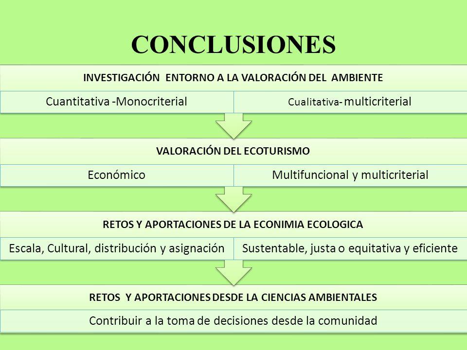 CONCLUSIONES Cuantitativa -Monocriterial Económico