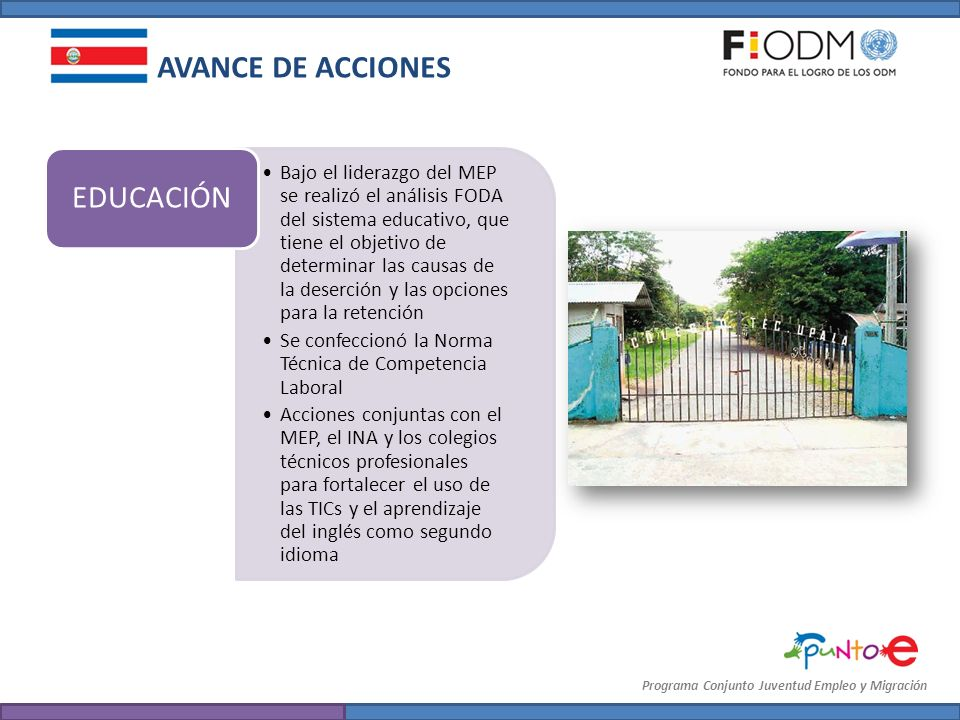 AVANCE DE ACCIONES EDUCACIÓN