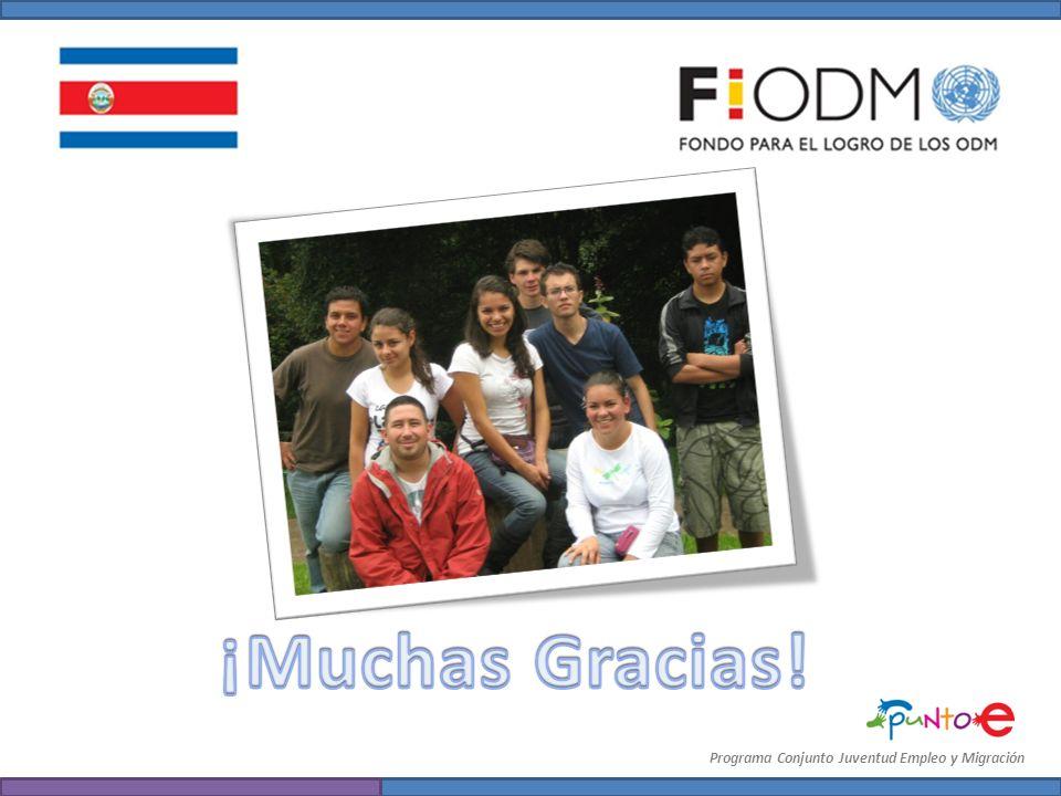 ¡Muchas Gracias! Programa Conjunto Juventud Empleo y Migración