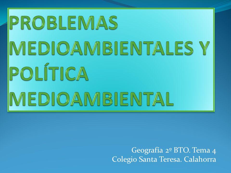 PROBLEMAS MEDIOAMBIENTALES Y POLÍTICA MEDIOAMBIENTAL