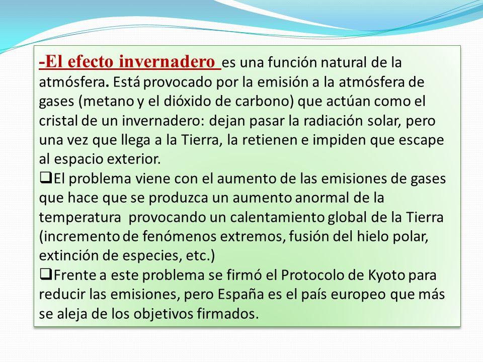 -El efecto invernadero es una función natural de la atmósfera