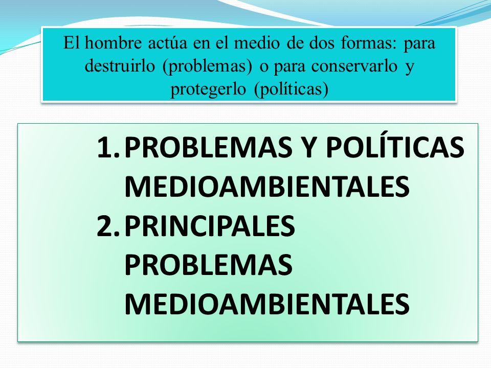 PROBLEMAS Y POLÍTICAS MEDIOAMBIENTALES