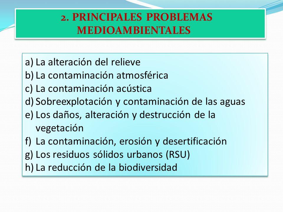 2. PRINCIPALES PROBLEMAS MEDIOAMBIENTALES