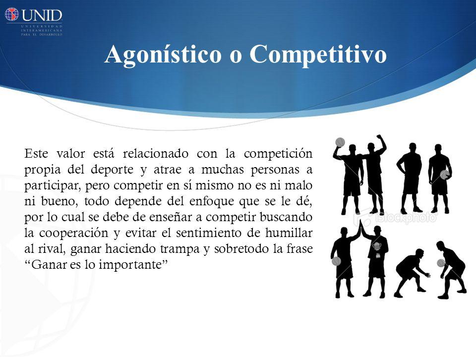 Agonístico o Competitivo
