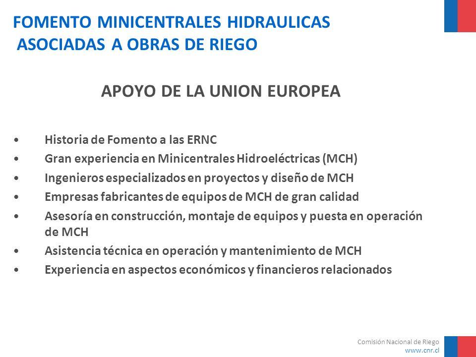 FOMENTO MINICENTRALES HIDRAULICAS ASOCIADAS A OBRAS DE RIEGO