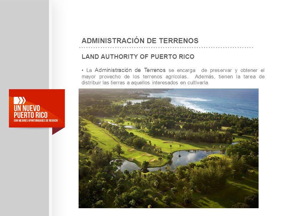 ADMINISTRACIÓN DE TERRENOS