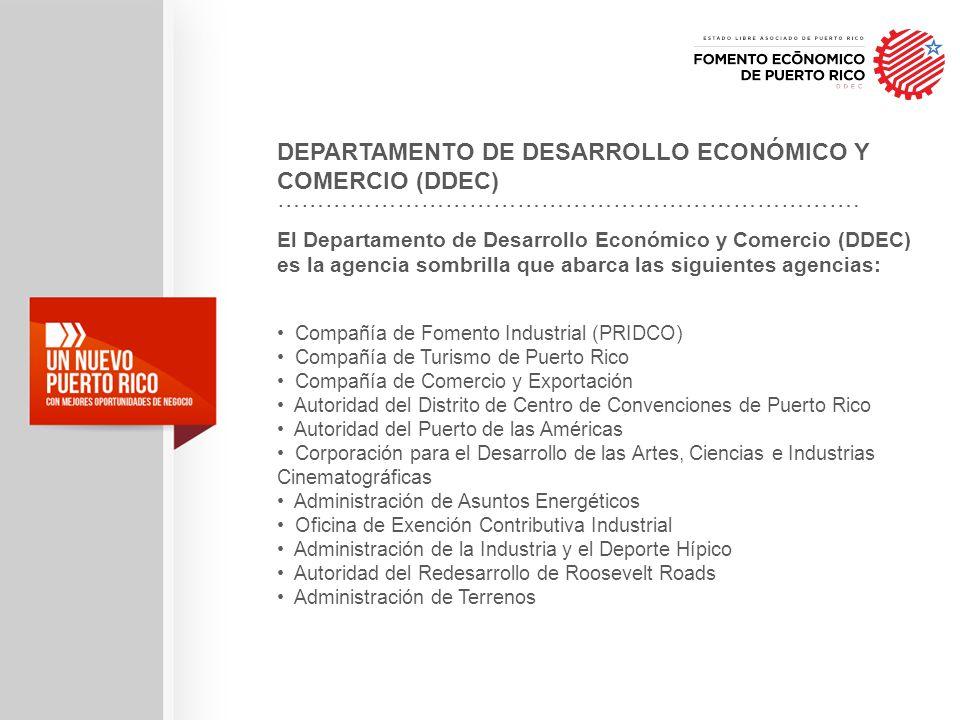 DEPARTAMENTO DE DESARROLLO ECONÓMICO Y COMERCIO (DDEC)
