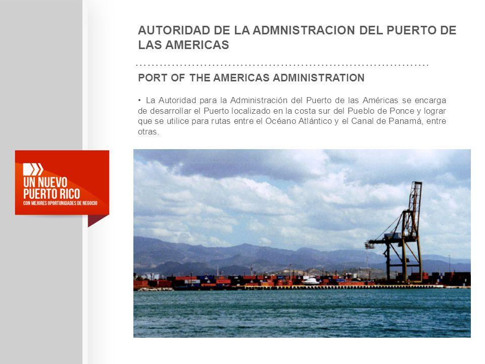 AUTORIDAD DE LA ADMNISTRACION DEL PUERTO DE LAS AMERICAS