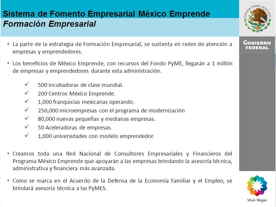 Sistema de Fomento Empresarial México Emprende Formación Empresarial
