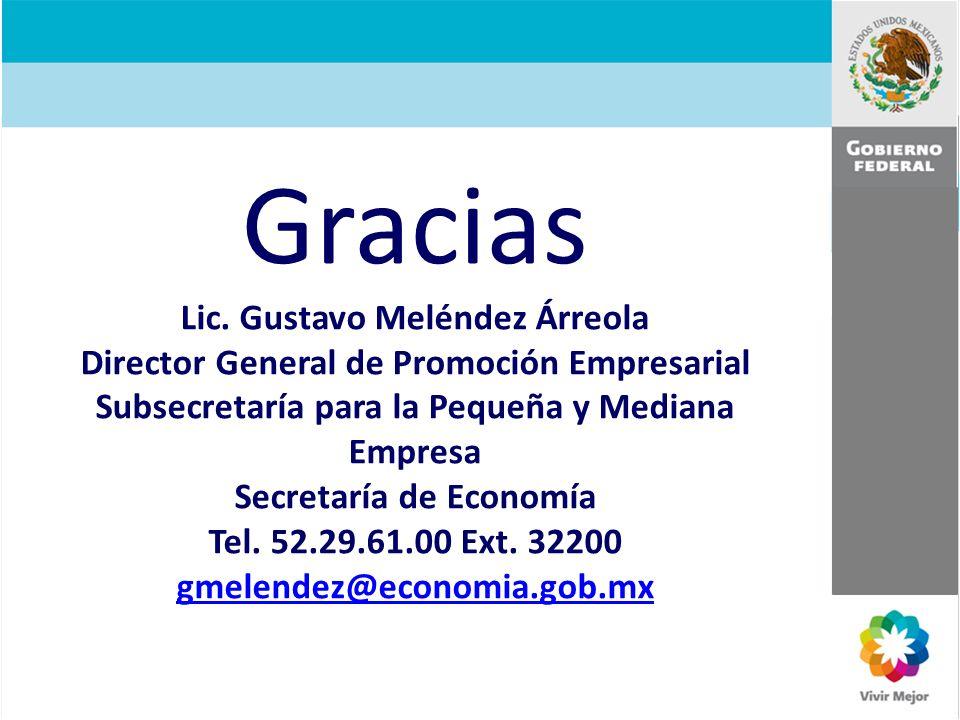 Gracias Lic. Gustavo Meléndez Árreola