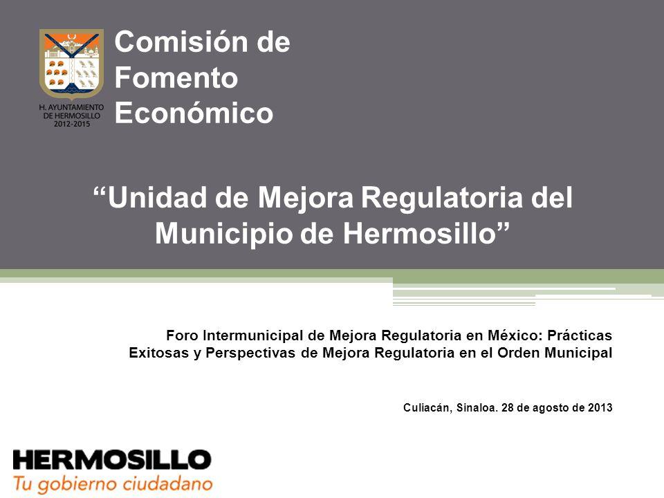Unidad de Mejora Regulatoria del Municipio de Hermosillo