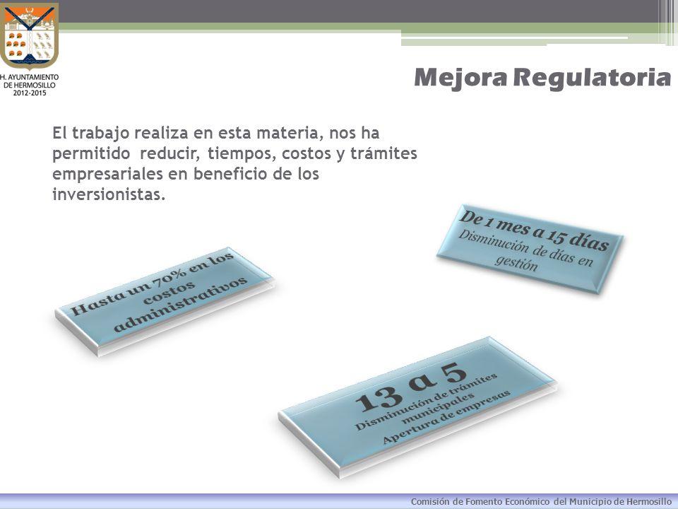 13 a 5 Mejora Regulatoria De 1 mes a 15 días
