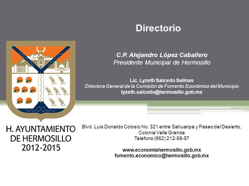 Directorio C.P. Alejandro López Caballero