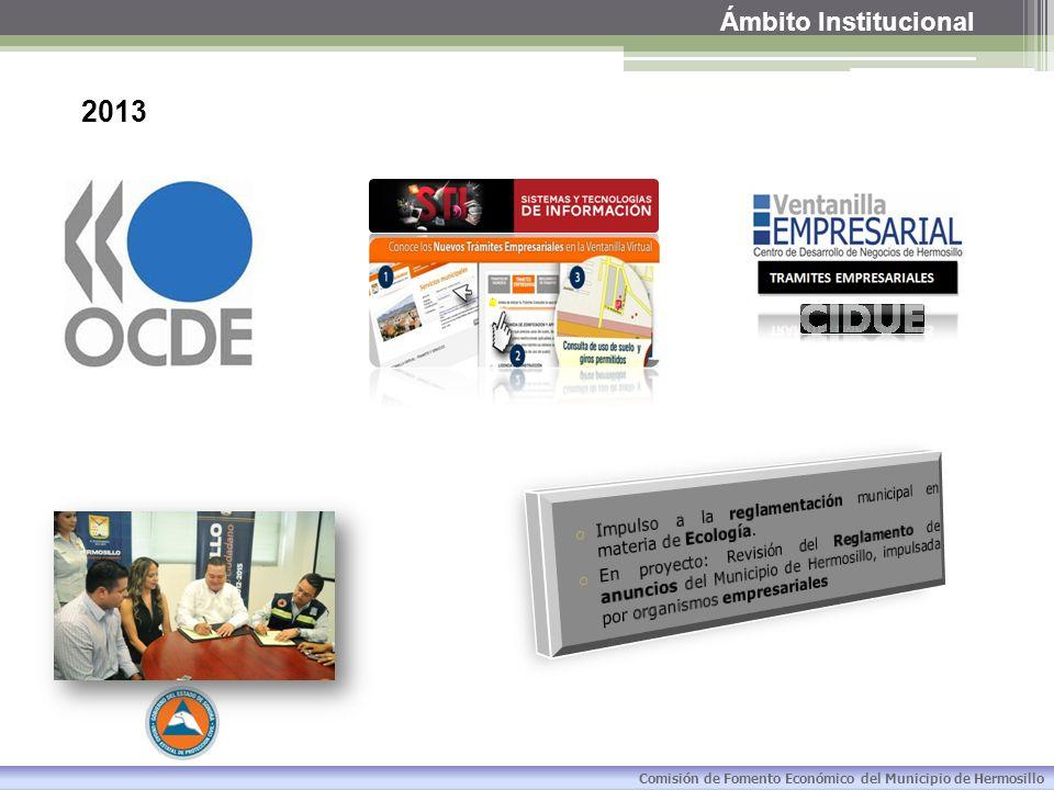 Ámbito Institucional 2013. Impulso a la reglamentación municipal en materia de Ecología.