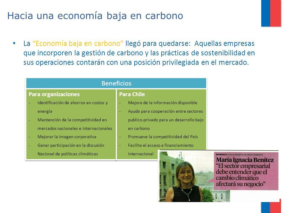 Hacia una economía baja en carbono