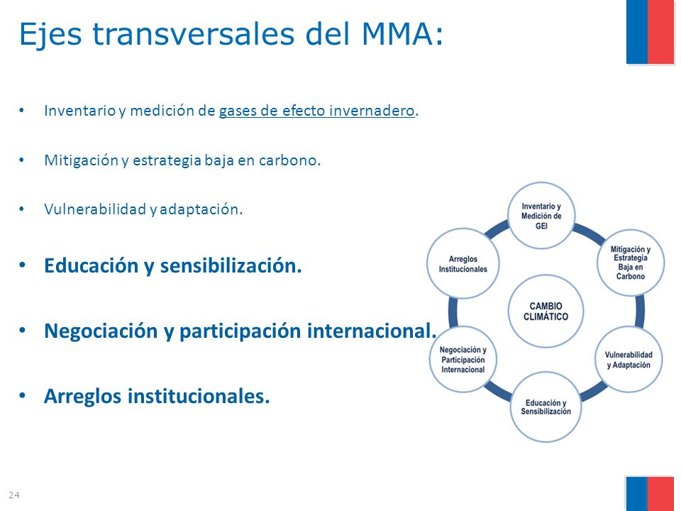 Ejes transversales del MMA: