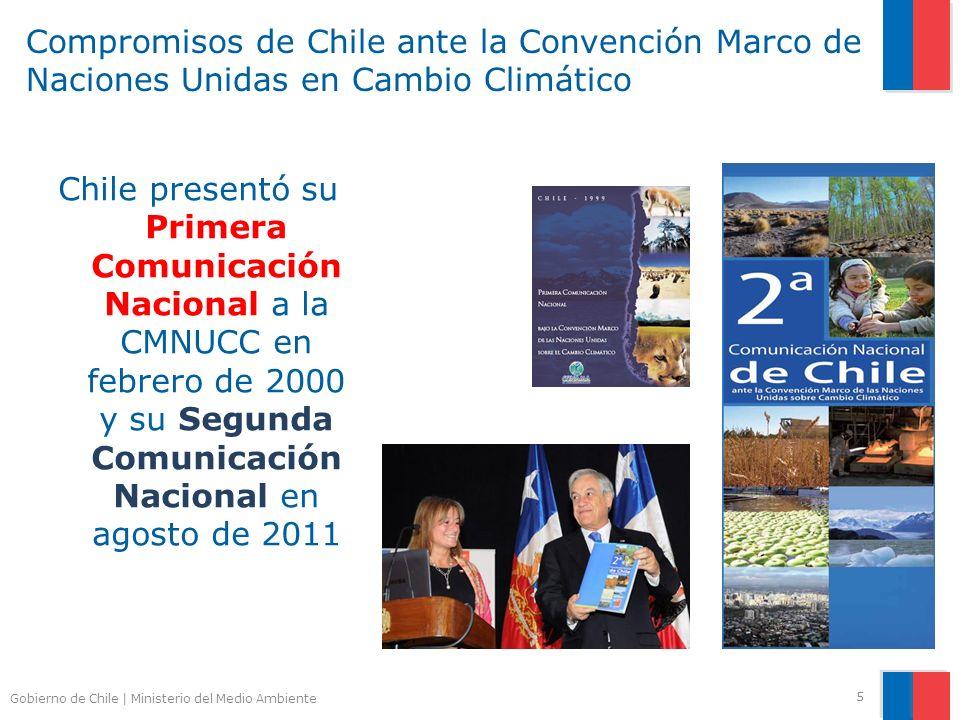 Compromisos de Chile ante la Convención Marco de Naciones Unidas en Cambio Climático