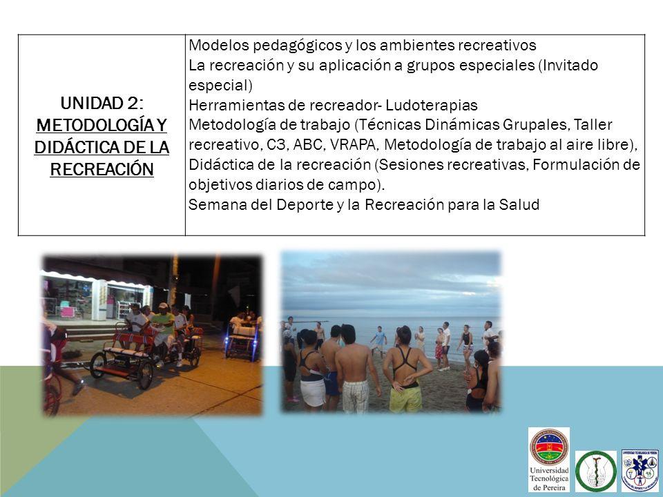 UNIDAD 2: metodología y didáctica de la recreación