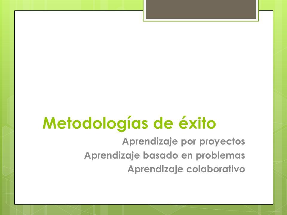 Metodologías de éxito Aprendizaje por proyectos