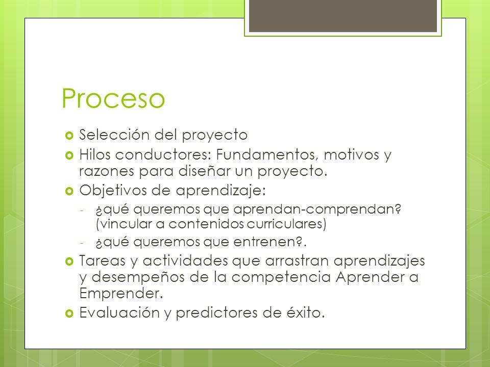 Proceso Selección del proyecto