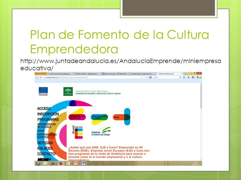 Plan de Fomento de la Cultura Emprendedora