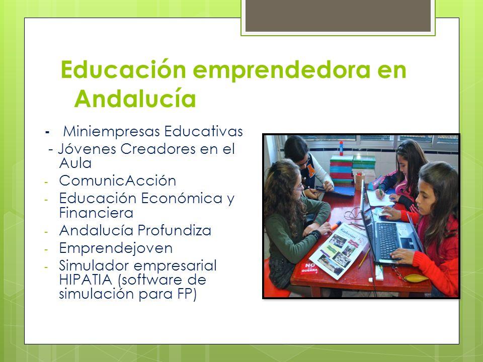 Educación emprendedora en Andalucía