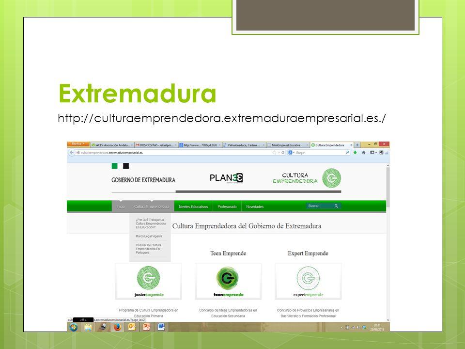 Extremadura http://culturaemprendedora.extremaduraempresarial.es./