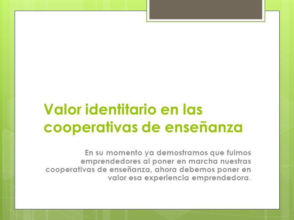 Valor identitario en las cooperativas de enseñanza