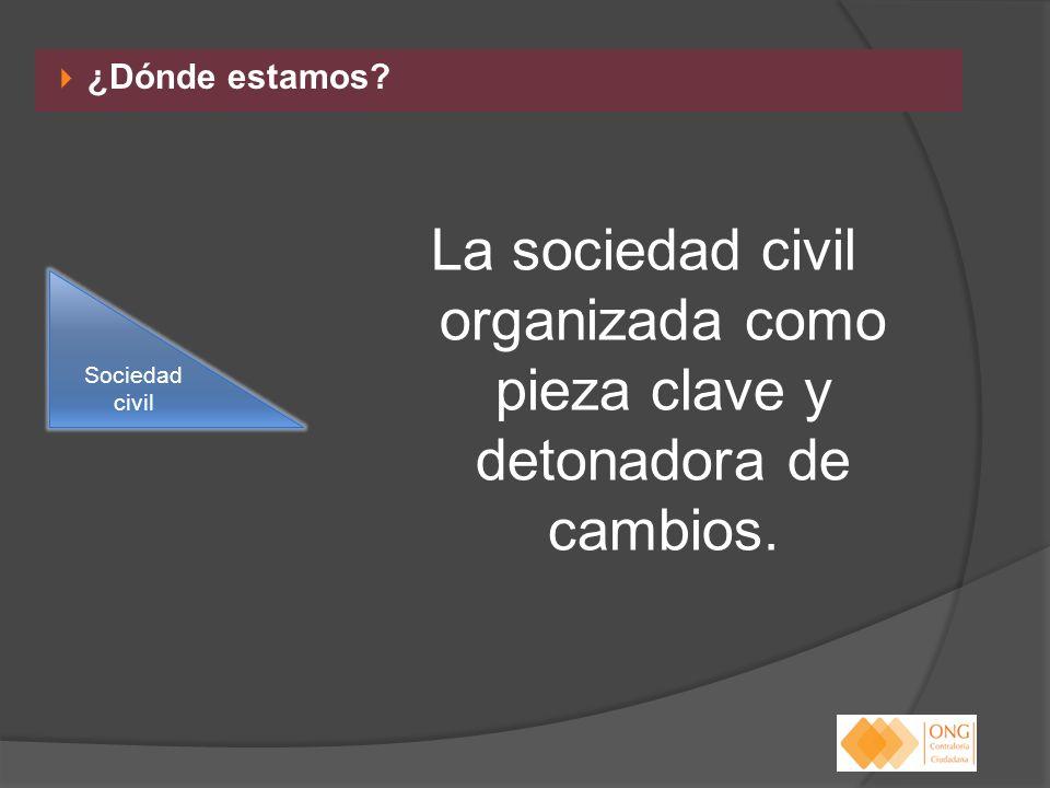 La sociedad civil organizada como pieza clave y detonadora de cambios.