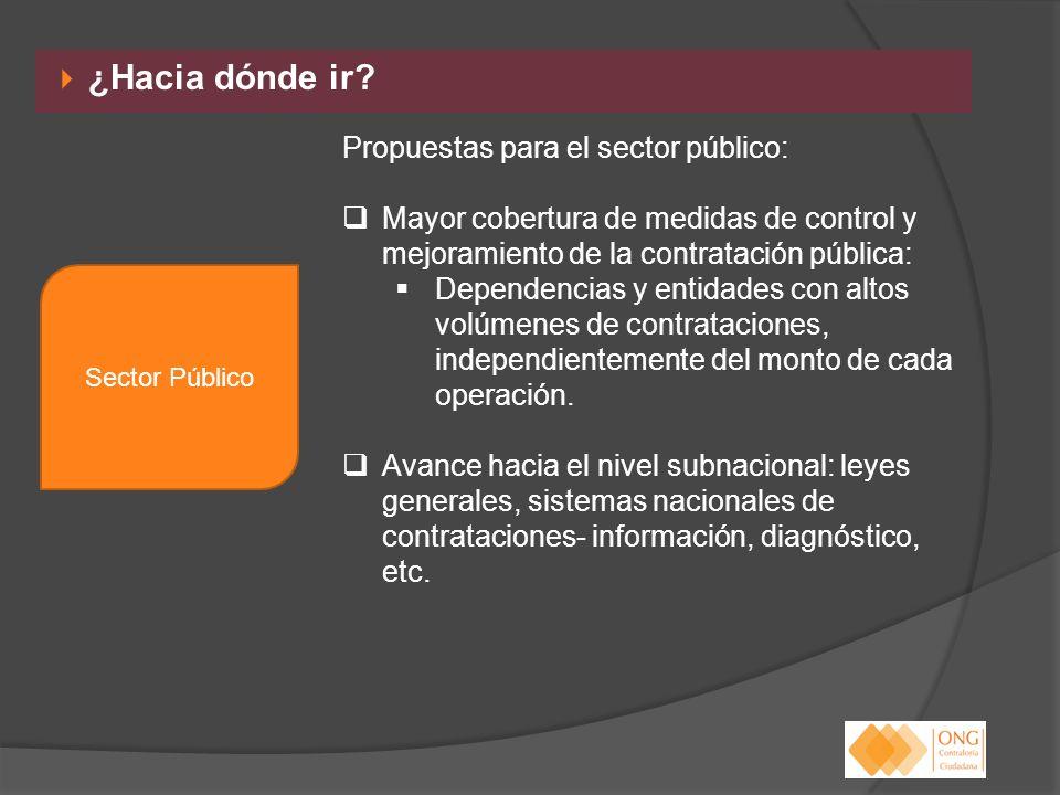 ¿Hacia dónde ir Propuestas para el sector público: