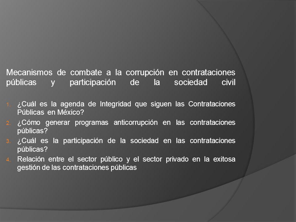 Mecanismos de combate a la corrupción en contrataciones públicas y participación de la sociedad civil