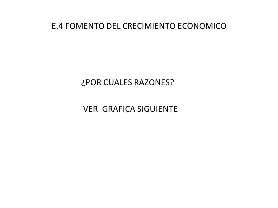 E.4 FOMENTO DEL CRECIMIENTO ECONOMICO