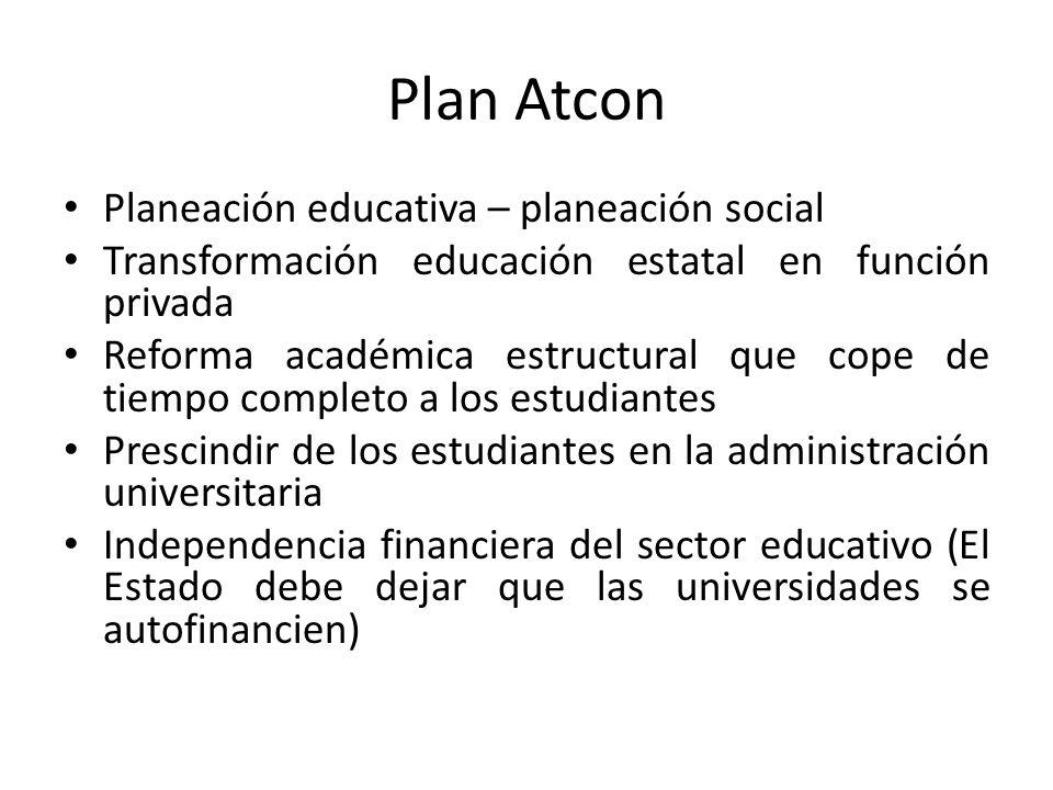 Plan Atcon Planeación educativa – planeación social