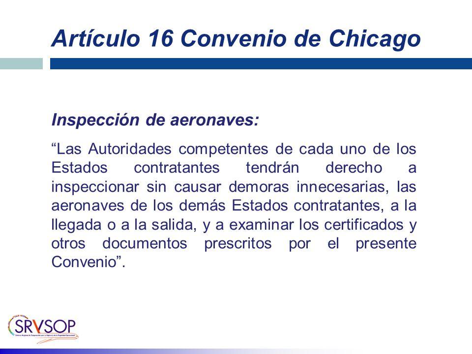 Artículo 16 Convenio de Chicago