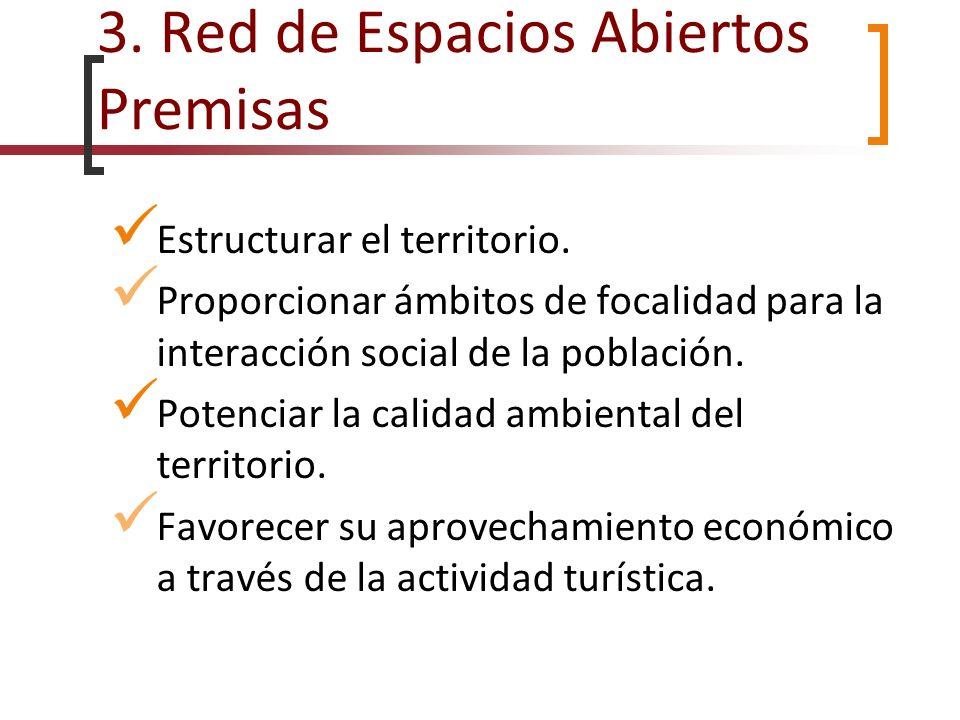 3. Red de Espacios Abiertos Premisas