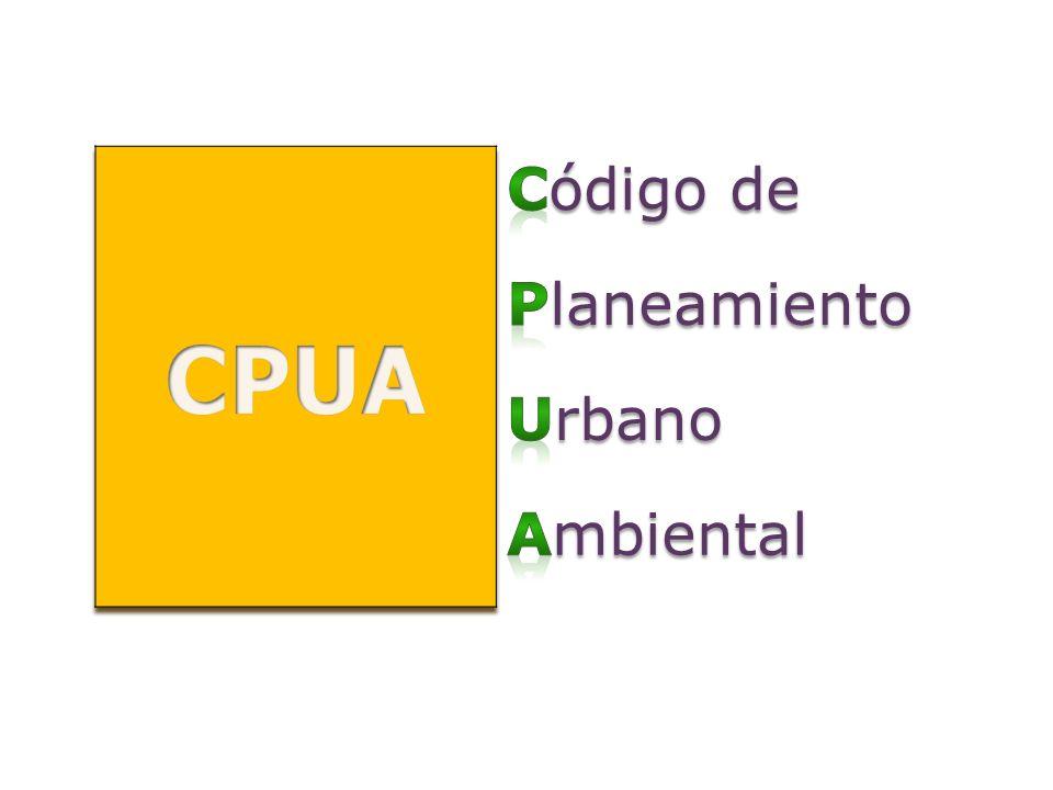 CPUA Código de Planeamiento Urbano Ambiental