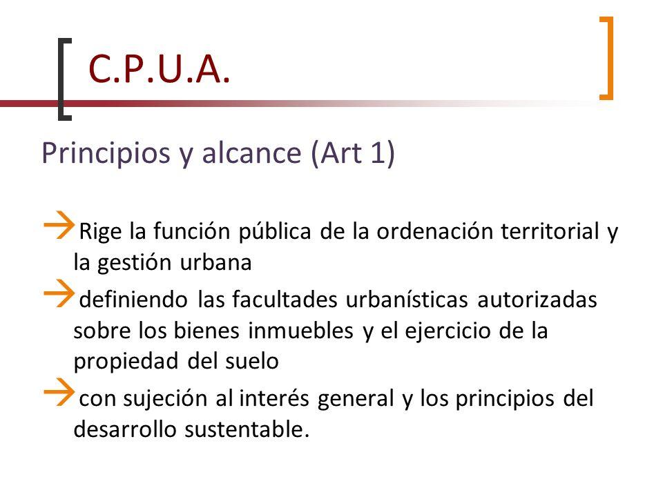 C.P.U.A. Principios y alcance (Art 1)