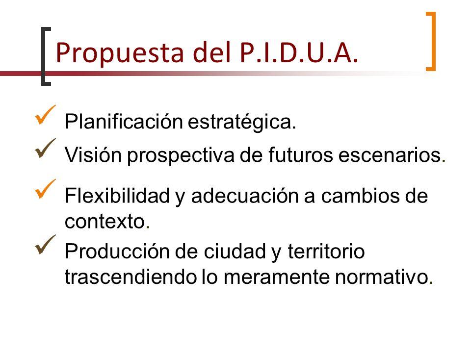 Propuesta del P.I.D.U.A. Planificación estratégica.