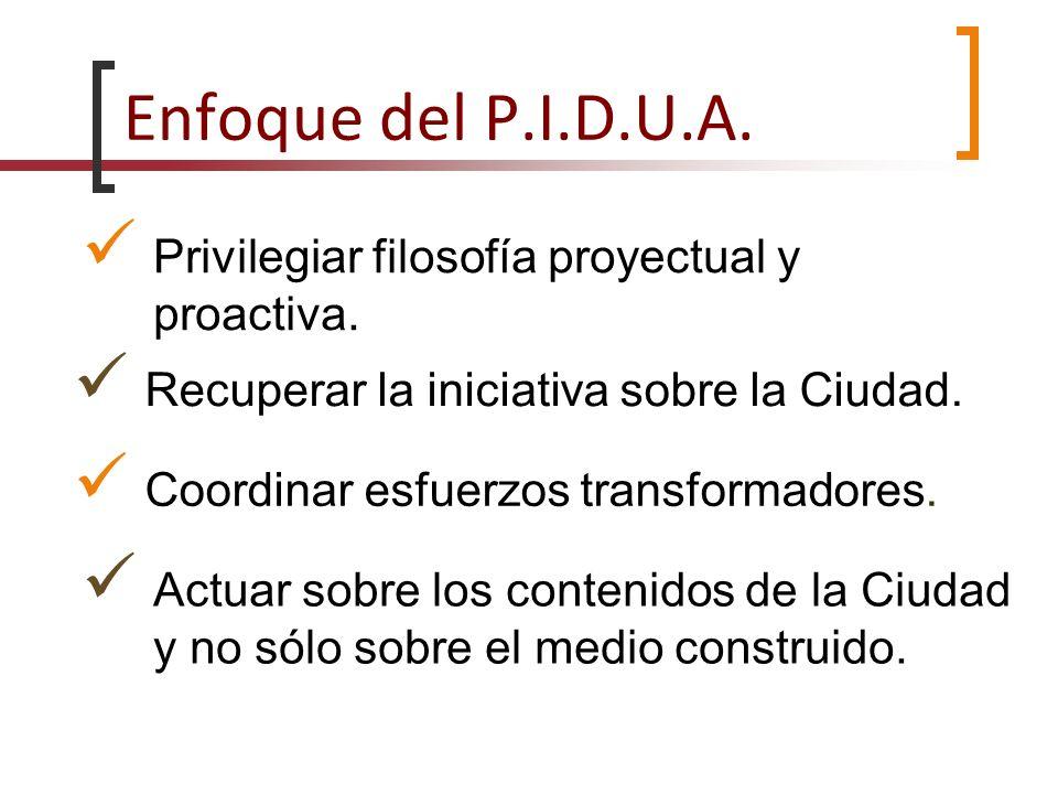 Enfoque del P.I.D.U.A. Privilegiar filosofía proyectual y proactiva.