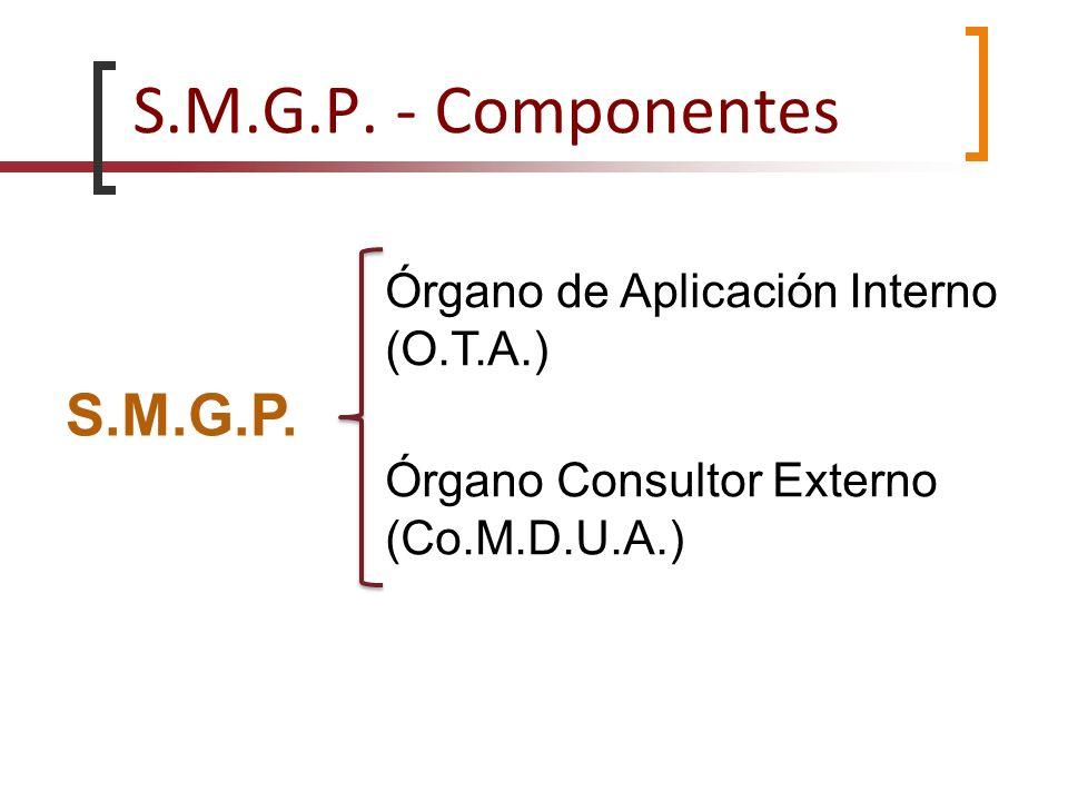 S.M.G.P. - Componentes S.M.G.P. Órgano de Aplicación Interno (O.T.A.)