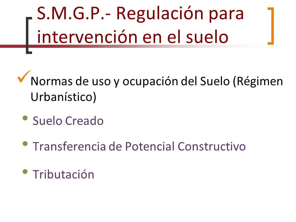 S.M.G.P.- Regulación para intervención en el suelo