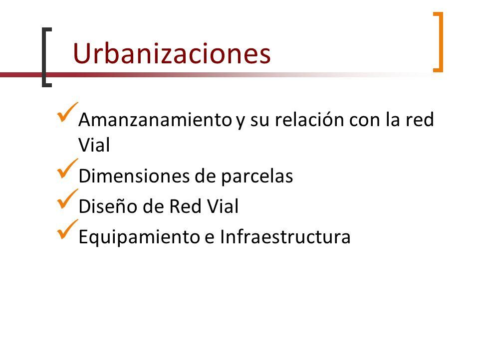 Urbanizaciones Amanzanamiento y su relación con la red Vial