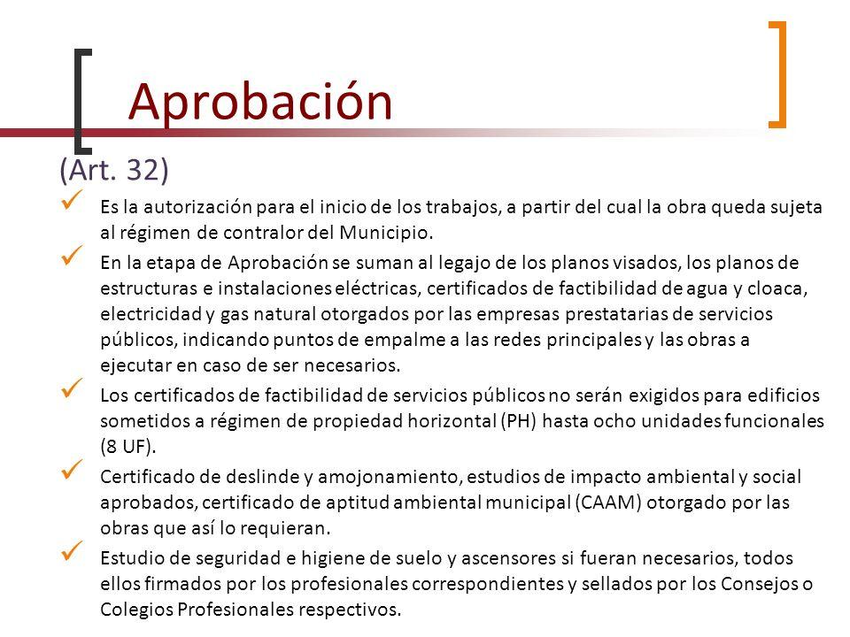 Aprobación (Art. 32)