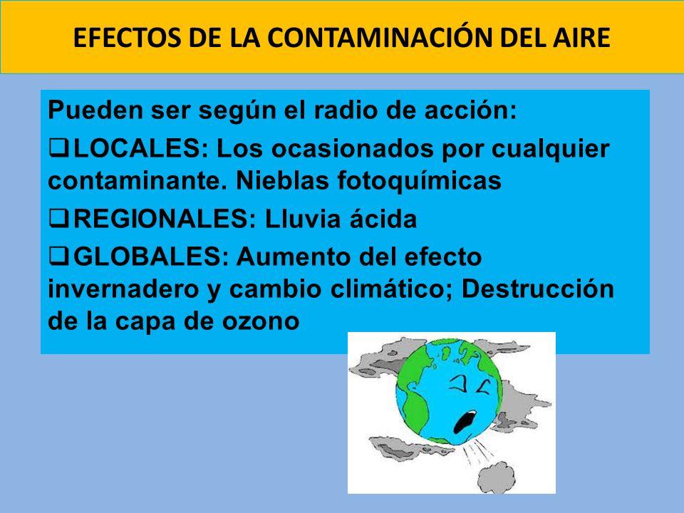 EFECTOS DE LA CONTAMINACIÓN DEL AIRE