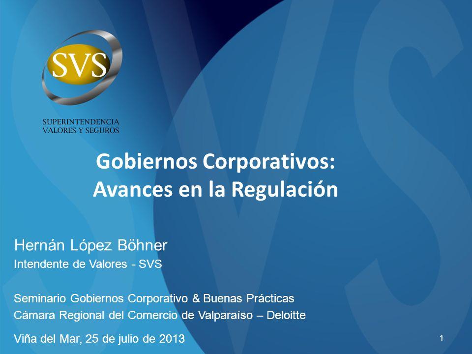 Gobiernos Corporativos: Avances en la Regulación
