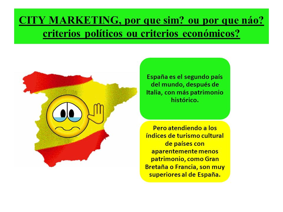 CITY MARKETING, por que sim. ou por que náo